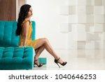 beautiful brunette woman with...   Shutterstock . vector #1040646253