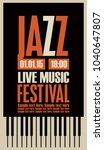 vector poster for a jazz... | Shutterstock .eps vector #1040647807