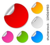 blank stickers collection ... | Shutterstock .eps vector #104064983