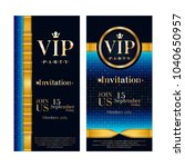 vip party premium invitation... | Shutterstock .eps vector #1040650957