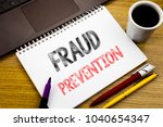 writing text showing fraud... | Shutterstock . vector #1040654347