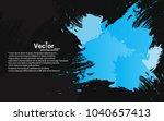 grunge brush frame abstract... | Shutterstock .eps vector #1040657413