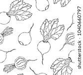 seamless background of ripe... | Shutterstock .eps vector #1040660797