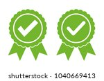 approved certified icon... | Shutterstock .eps vector #1040669413