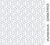 geometric block based seamless... | Shutterstock .eps vector #1040674933