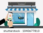 customer searching location for ... | Shutterstock .eps vector #1040677813