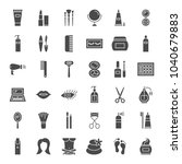 cosmetics solid web icons.... | Shutterstock .eps vector #1040679883