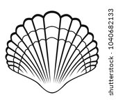 big shell icon. simple...   Shutterstock .eps vector #1040682133