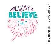 lettering motivation poster....   Shutterstock .eps vector #1040688937