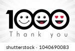 thank you 1000 followers... | Shutterstock .eps vector #1040690083