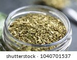 dried leaves of yerba mate tea  ... | Shutterstock . vector #1040701537