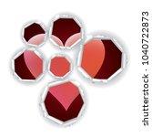heart in paper holes. heart... | Shutterstock .eps vector #1040722873