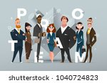 abstract business banner design ... | Shutterstock .eps vector #1040724823