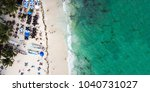 aerial view of famous playa del ... | Shutterstock . vector #1040731027