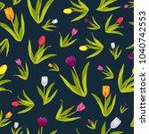 a vector illustration of tulip... | Shutterstock .eps vector #1040742553