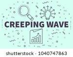 conceptual business... | Shutterstock . vector #1040747863