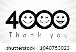 thank you 4000 followers... | Shutterstock .eps vector #1040753023