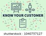 conceptual business... | Shutterstock . vector #1040757127