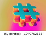 colourful hashtag icon on candy ... | Shutterstock . vector #1040762893