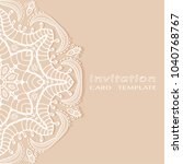 invitation or card template... | Shutterstock .eps vector #1040768767