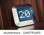 the number 20 on a digital... | Shutterstock . vector #1040791693