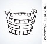 old big rural vat hot cleansing ... | Shutterstock .eps vector #1040792833