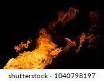 fire isolated on black | Shutterstock . vector #1040798197