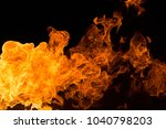 fire isolated on black | Shutterstock . vector #1040798203