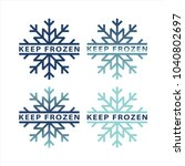 frozen product label icons....