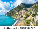 beautiful view of the positano...   Shutterstock . vector #1040802727