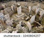 ancient site of g bekli tepe in ... | Shutterstock . vector #1040804257