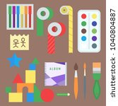 themed kids creativity creation ... | Shutterstock .eps vector #1040804887