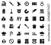 flat vector icon set   plunger... | Shutterstock .eps vector #1040807437
