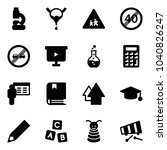 solid vector icon set   lab... | Shutterstock .eps vector #1040826247