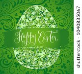 happy easter greeting card.... | Shutterstock .eps vector #1040835067