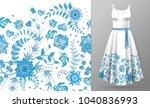 seamless pattern of hand draw... | Shutterstock . vector #1040836993