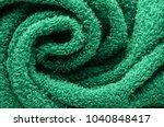 texture of a green towel...   Shutterstock . vector #1040848417
