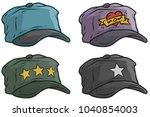 cartoon different colorful cap... | Shutterstock .eps vector #1040854003