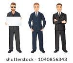 business man in suit in... | Shutterstock .eps vector #1040856343