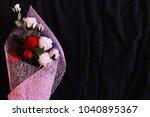 close up flower bouquet with... | Shutterstock . vector #1040895367