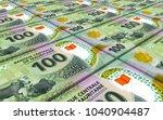 mauritanian ouguiya bills... | Shutterstock . vector #1040904487