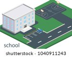 isometric 3d concept vector...   Shutterstock .eps vector #1040911243