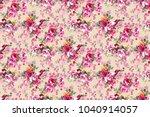 seamless flower pattern | Shutterstock . vector #1040914057