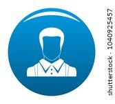 man avatar icon blue circle...