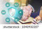 insurance policy services... | Shutterstock . vector #1040932207