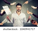 young business man is... | Shutterstock . vector #1040941717