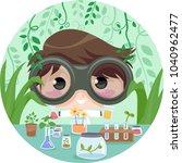 illustration of a kid boy... | Shutterstock .eps vector #1040962477