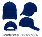 trucker navy blue baseball cap... | Shutterstock .eps vector #1040973847