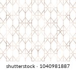 art deco seamless pattern with... | Shutterstock .eps vector #1040981887
