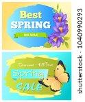 best spring big sale... | Shutterstock .eps vector #1040990293
